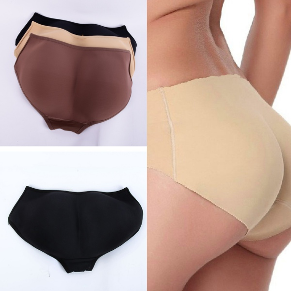 8ce5cf35a5550 Women Ladies Seamless Hip Enhancer Shaper Push Up Padded Panties ...
